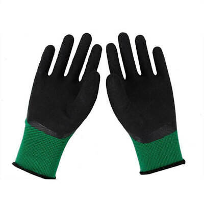 1Pair Nylon Yarn Latex Gloves Labor Protective Non-Slip Windproof Gloves 23-24cm