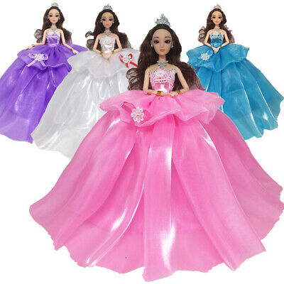 1/4Pcs Dresses for Barbie Doll Party Girl Dresses Clothes Gown Toy Gift Kid UK