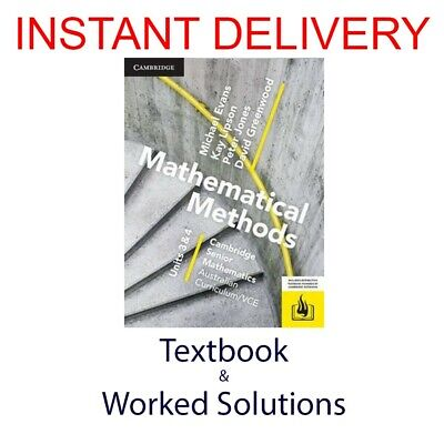 [PDF Textbook + Worked Solutions] CSM VCE Mathematical Methods Units 3/4
