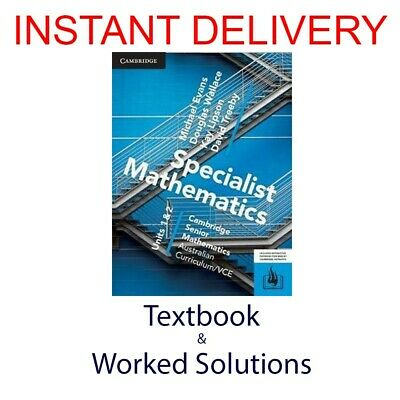 [PDF Textbook + Worked Solutions] CSM VCE Specialist Mathematics Units 1/2