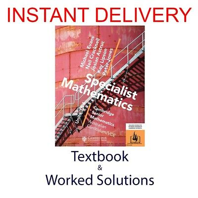 [PDF Textbook + Worked Solutions] CSM VCE Specialist Mathematics Units 3/4