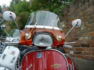Vespa 150 Sprint Flyscreen Special Small Batch Remade in Transparent Orange