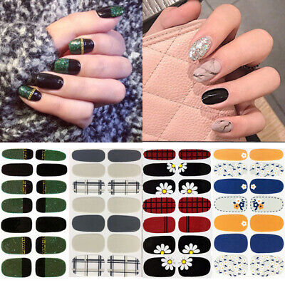 Nail Wraps Flowers Mixed Patterns Self-adhesive Full Cover 3D Nail Art Stickers