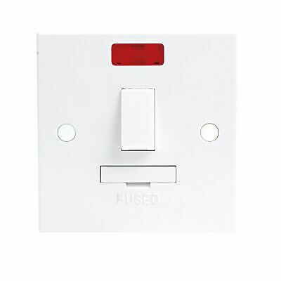 13A Switched Fused Spur Unit & Appliance Flex Outlet Neon Light ST6300N- 10 PACK