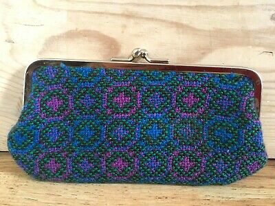 Vintage Welsh Wool Tapestry Clip Purse