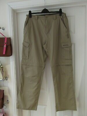 """MOUNTAIN WAREHOUSE Walking Trousers Stone Brown with Zip Off Legs Waist 36"""""""