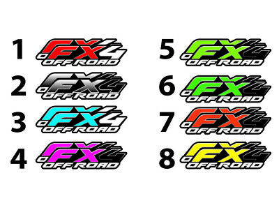 """(2) FX4 Off Road Truck Bed Decal Set For Ford F150 Raptor SIDE Stickers 15""""X4"""""""