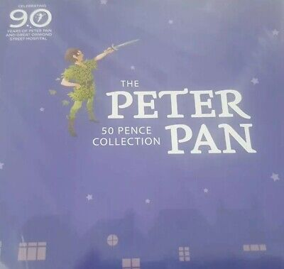 2019 OFFICIAL PETER PAN 50p 6 COIN COMPLETE SET BUNC 90th ANNIVERSARY PACKAGING