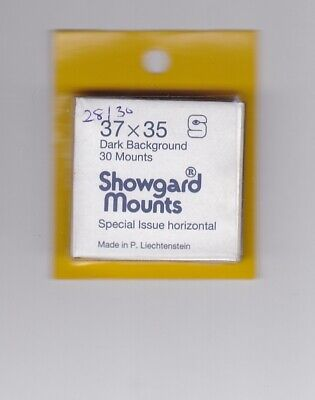 SHOWGARD Black Stamp Mount Cut to Size 37mm x 35mm PART PACK 28/30 MOUNTS