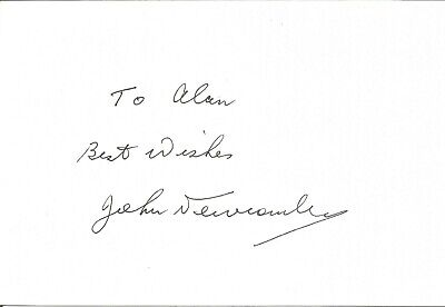John Newcombe AO, OBE signed dedicated card , Tennis player  E1935