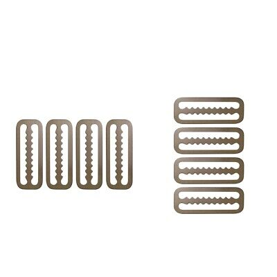 """4x Stainless Weight Belt Webbing Strap Keeper Clip Retainer for 2/"""" Webbing"""