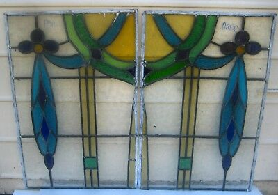 A512 (a)  Victorian Arch and 2 stained glass  side windows Ca 1890s