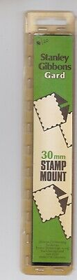 S GIBBONS Gard Black Stamp Strip Mounts 210mm x 30mm Part pack of 17/20