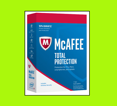 McAfee Total Protection 2019  | 1 Device | 2 Years Download / ESD