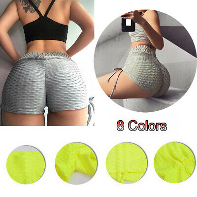 Sexy Women Girls Sports Gym Shorts Hip Push Up Skinny Slim Yoga Pants S-XL
