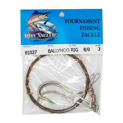 WIRE BALLYHOO PIN Rigs - Pack of 10 - Stainless - 8' Long