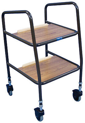 Aidapt Meopham Height Adjustable Trolley with Wooden Trays - VG801