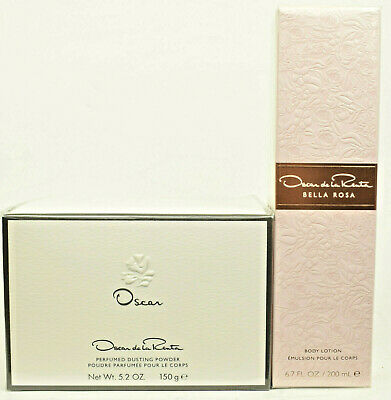 Oscar by Oscar De La Renta  150g Dusting Powder  + FREE Bella Rosa Body Lotion