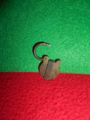 Antique brass padlock miniature with secret secrecy
