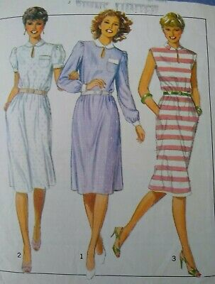 Vintage 1980s Style Pullover Dress Sewing Pattern #3281 Multi-Size