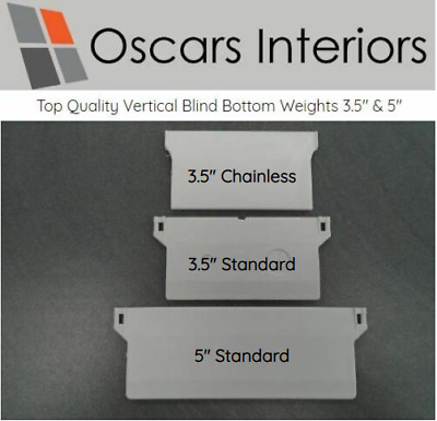 """Top Quality Vertical Blind Bottom Weights 3.5"""" & 5"""" Width Chainless Spare Parts"""