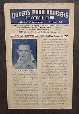 QPR v Southend United 1946/7 - Football Programme