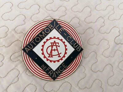 Insigne Automobile Club De France Pour Calandre Vintage French Car Badge