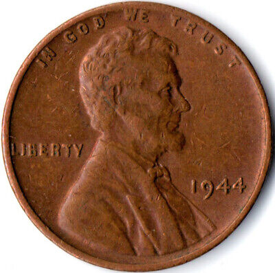 United States / 1944 Wheat Penny / One Cent / Lincoln / Collectible  #Wt3577