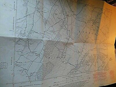 """Kent:bredgar & Bicknor: 6"""" Scale Planners Map: North Downs:best Detail 1864-1949"""