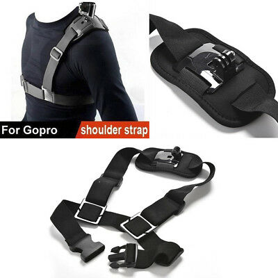 Single Shoulder Chest Strap Mount Holder Belt For GoPro Hero1/2/3/3+/4 Great