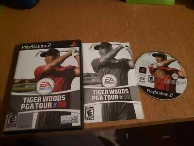 Tiger Woods PGA Tour 08 (Sony PlayStation 2, 2007) Complete CIB VG PS2