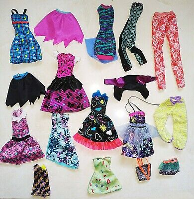 17 pcs Monster High Doll Clothes