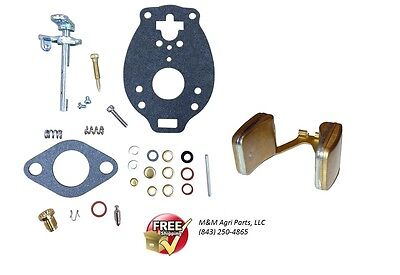 Carburetor Kit & Float Ih Farmall 140 200 230 240 330 340 404 424 444 Tractor