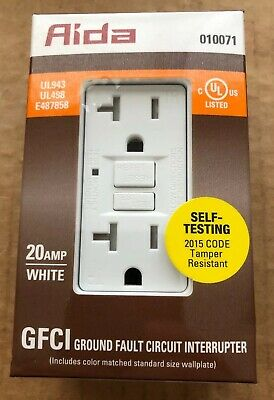 Aida 20 Amp GFCI GROUND FAULT CIRCUIT INTERRUPTER-010071