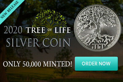 2019 1OZ PURE .999 SILVER TREE of LIFE COIN NEW ZEALAND MINT - IN-STOCK!!!