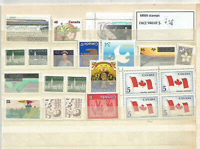Canada Discount 50% OFF Under FV CA$ 41++ stamps x postage lot MNH+Unfranked