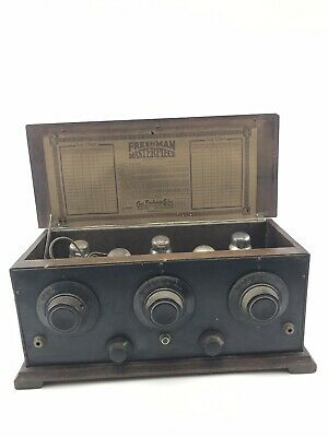 1920's Freshman Masterpiece Battery Radio w/ Five O1A Tubes- untested- 3719
