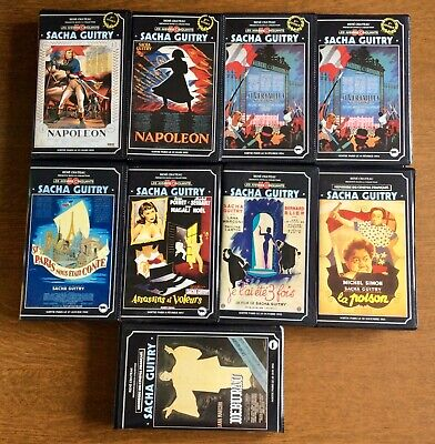 Lot de 9 cassettes video K7 VHS René Château : collection Sacha Guitry Napoléon