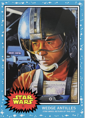 Topps Star Wars Living Set Card #11 - Wedge Antilles GREAT COLLECTION