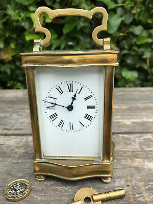 Victorian French Brass Carriage Clock,  A Thomas Windermere 1898-1906