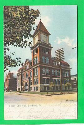 Postcard ~ City Hall Bradford, Pennsylvania ~ Vintage 7429