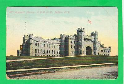 Postcard ~ Regiment Armory NGS, NY Buffalo ~ Vintage 7459