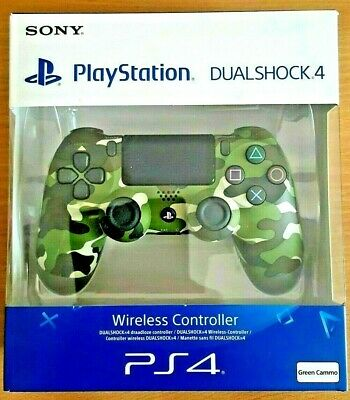Genuine Sony Playstation 4 PS4 Controller v2 DualShock Green Camo Brand New