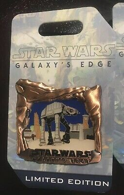 Disney Park Disneyland 2019 Star Wars Galaxy's Edge Countdown AT-AT LE Pin