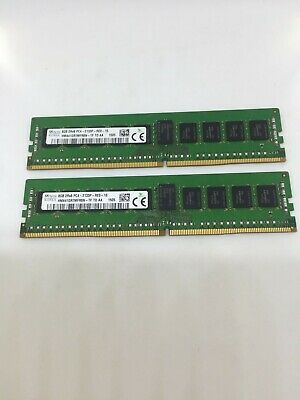 Genuine SK Hynix 16GB (2x8GB) 2RX8 PC4-2133P-RED-10 DDR4 2400MHz ECC, Brand New.