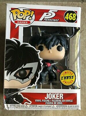 Funko Pop! Games: Exclusive Persona 5 Joker No Mask Chase Variant #468 DAMAGED