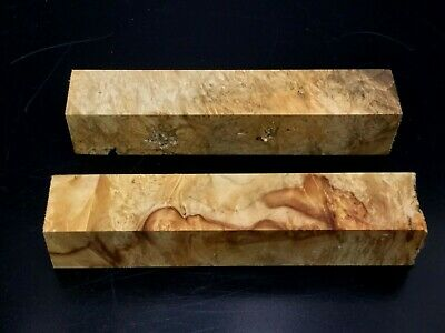 "PB6) 2 Maple Burl Pen Turning Blanks 7/8"" Reel Set"