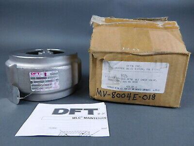 """*NEW* DFT 9003X 9003 2/"""" Stainless Steel WLC Check Valve Class 150//300 Q118"""