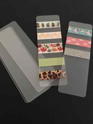 Washi Tape Sample Cards - Set of 5, Blank PVC Matte cards,Washi storage, Planner