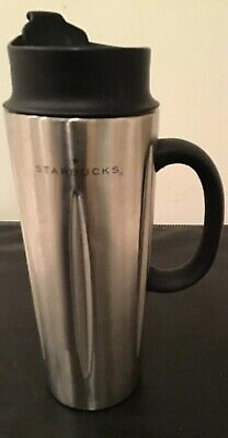 21dff2f2322 Starbucks Barista Stainless Steel Solo Coffee Press Travel Mug Tumbler 16oz  2003